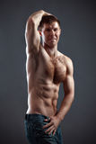 Strong athletic man Royalty Free Stock Photography