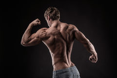 Strong Athletic Man Fitness Model Stock Image