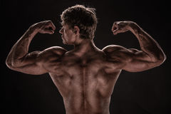 Strong Athletic Man Fitness Model Royalty Free Stock Images