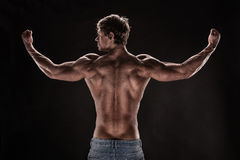 Strong Athletic Man Fitness Model Stock Photo