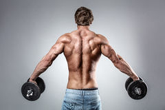Strong Athletic Man Fitness Model Royalty Free Stock Photo