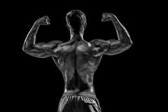 Free Strong Athletic Man Fitness Model Posing Back Muscles, Triceps O Stock Photo - 93052560