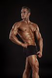 Strong Athletic Man Fitness Model Torso showing big muscles Stock Image