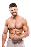 Strong Athletic Man Fitness Model Torso showing big muscles Royalty Free Stock Photos
