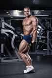 Strong Athletic Man Fitness Model Torso showing muscles Royalty Free Stock Photo
