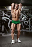 Strong Athletic Man Fitness Model Torso showing muscles royalty free stock photography