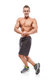 Strong Athletic Man Fitness Model Torso showing muscles Royalty Free Stock Image