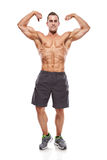 Strong Athletic Man Fitness Model Torso showing muscles Stock Image