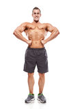 Strong Athletic Man Fitness Model Torso showing muscles Stock Photos