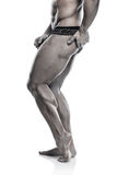 Strong Athletic Man Fitness Model Torso showing muscular legs Royalty Free Stock Images