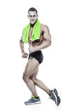 Strong Athletic Man Fitness Model Torso showing musles stock photo