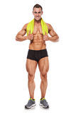 Strong Athletic Man Fitness Model Torso showing six pack abs. Royalty Free Stock Photography