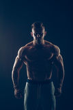 Strong Athletic Man Fitness Model Torso showing Stock Images