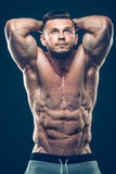 Strong Athletic Man Fitness Model Torso showing Stock Photo