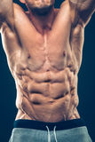 Strong Athletic Man Fitness Model Torso showing Stock Photography