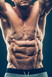 Strong Athletic Man Fitness Model Torso showing Royalty Free Stock Image