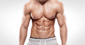 Strong Athletic Man  showing muscular body Stock Photography