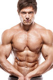 Strong Athletic Man  showing muscular body Stock Image