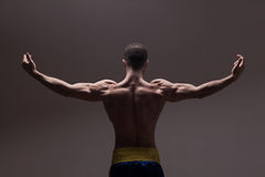 Strong athletic mans back Royalty Free Stock Photos