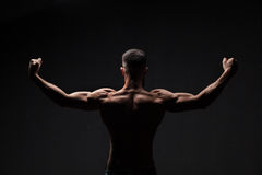 Strong athletic mans back Royalty Free Stock Photography