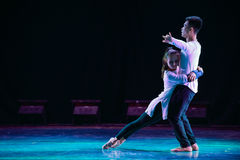A strong attachment between-Modern dance Royalty Free Stock Photography