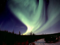 Strong Aurora. One of the nice and powerful aurora displays near Fairbanks, AK, November 2005 Royalty Free Stock Images