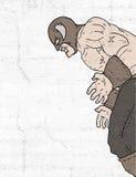 Strong barbarian illustration. Creative design of strong barbarian illustration Royalty Free Stock Photos