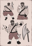 Strong barbarian man. Design of strong barbarian man Royalty Free Stock Photography