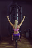 Strong and beautiful athletic woman training in the gym Royalty Free Stock Image