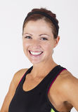 Strong Beautiful fitness woman close up portrait Royalty Free Stock Photography