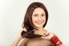 Strong and beautiful hair Royalty Free Stock Photography