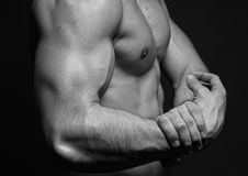 Strong biceps Royalty Free Stock Photography