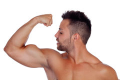 Strong biceps Stock Photography