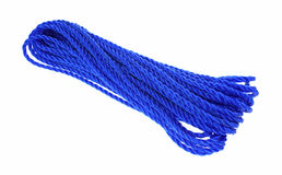 Strong Blue Poly Rope Stock Photography