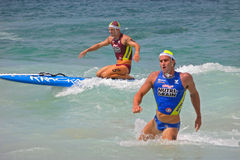 Strong body of athlete. Kellogg's Nutri-Grain Ironman Ironwoman competition Coogee Australia 2009 Stock Photography