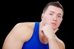 Strong bodybuilder guy Stock Photos