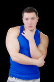 Strong bodybuilder guy Stock Photo