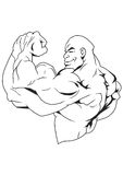 Strong bodybuilder. Muscular bodybuilder Royalty Free Stock Image