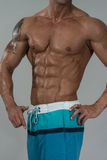 Strong Bodybuilder With Six Pack Royalty Free Stock Photography