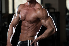 Strong Bodybuilder With Six Pack Stock Photo