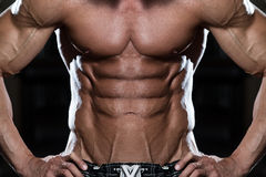 Strong Bodybuilder With Six Pack Royalty Free Stock Images