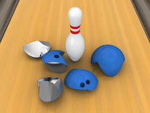 Strong bowling pin. Royalty Free Stock Image
