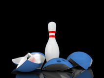 Strong bowling pin. Stock Photography