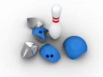 Strong bowling pin. Stock Image