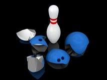 Strong bowling pin. Royalty Free Stock Photo