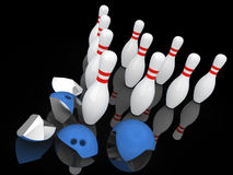 Strong bowling pins. Stock Photography