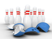 Strong bowling pins. Stock Image