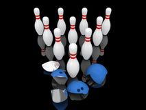 Strong bowling pins. Stock Photos