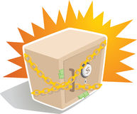 Strong Box with Chain. Illustration of Strong Box with Chain Stock Images