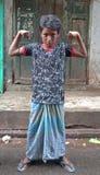 Strong boy - Kolkata (Calcutta, India, Asia) Royalty Free Stock Photography